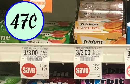graphic about Trident Coupons Printable known as Trident Gum Coupon, I Middle Publix