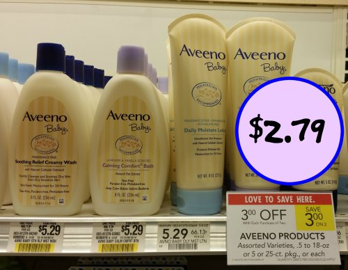 Aveeno Baby Wash or Lotion - Just $2.79 At Publix