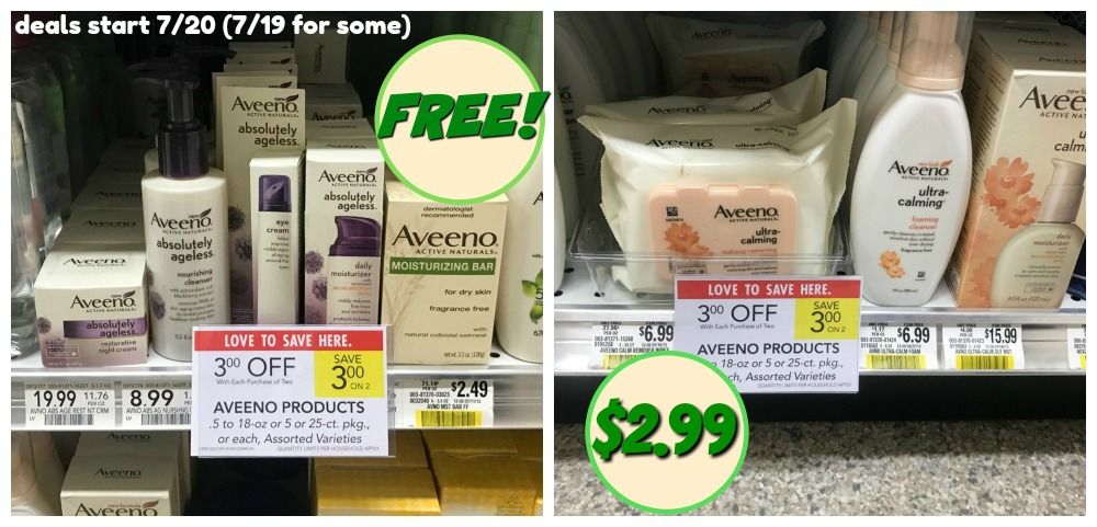 Free & Cheap Aveeno Products With The Upcoming Sales At Publix