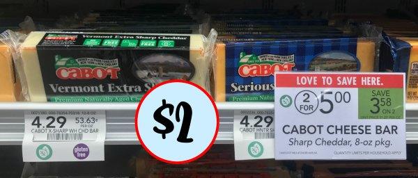 Cabot Cheese Bar Just 2 At Publix