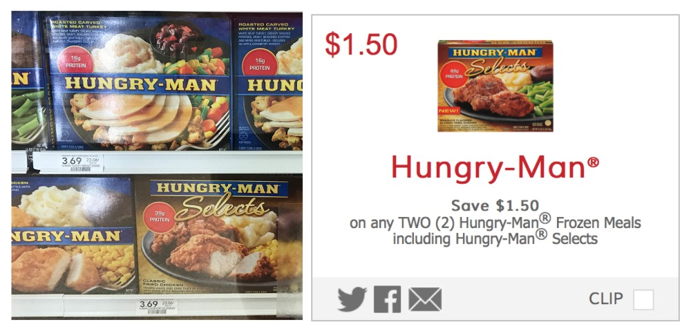 picture about Coupongreat Com Printable Coupons named Fresh new Hungry-Man® Coupon - Good Financial savings At Publix!