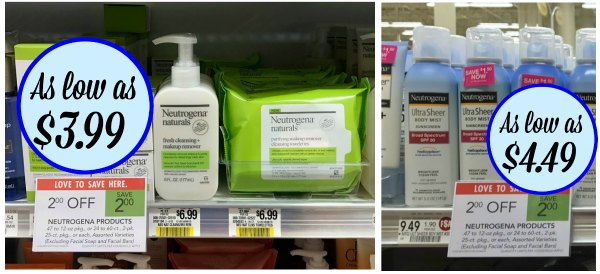 Neutrogena Deals At Publix - Make-Up Remover Just $3.99 (Plus Cheap Sunscreen)