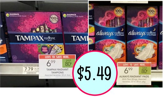 New Tampax & Always Coupons For The Publix Sales - As Low As