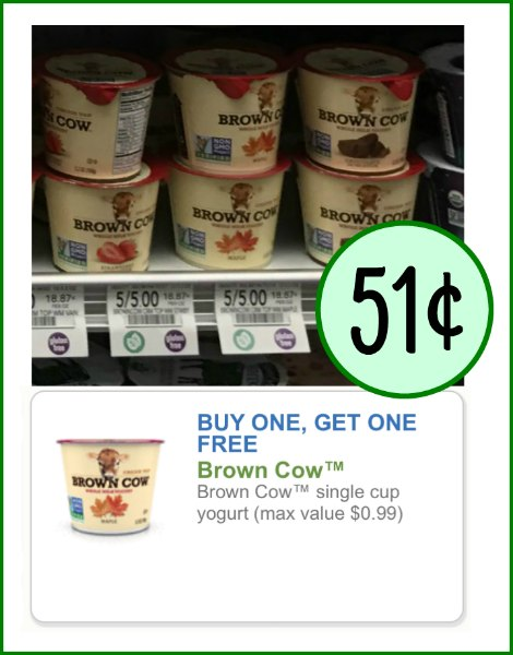 Clip Brown Cow top coupon of the day: Brown Cow Product Locator.. Enjoy BOGO coupon codes, free sample offers and free trial coupons on thousands of items from Brown Cow. With Brown Cow coupon codes and offers you can save as much as 50% off discount on Brown Cow .