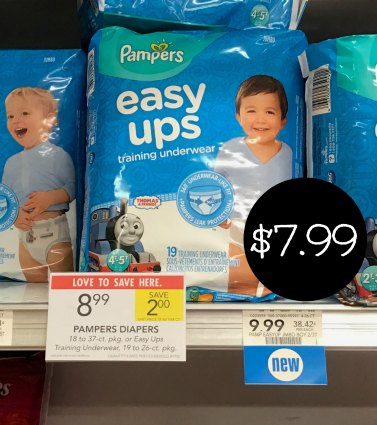 New Pampers coupons popped up today. With the sale and new coupon you pay just $7.99 for a bag of Easy Ups at Publix! Coupons - Just At Publix