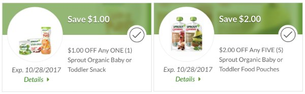 Free Sprout Baby Food Snacks Reminder Plus New Publix Digital Coupons