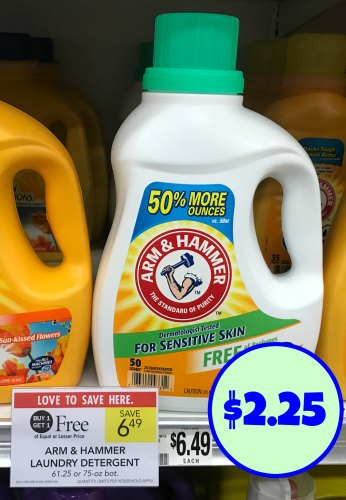 picture relating to Arm and Hammer Detergent Coupons Printable named Clean Arm Hammer Laundry Detergent Coupon For Publix BOGO