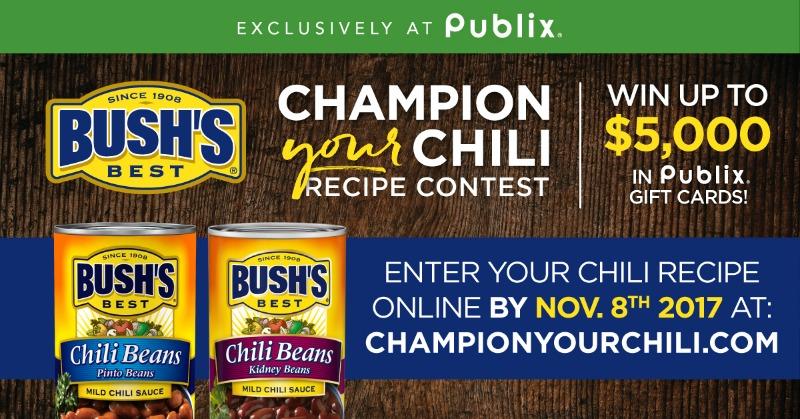 Reminder - BUSH'S® Champion Your Chili Recipe Contest Ends 11/8