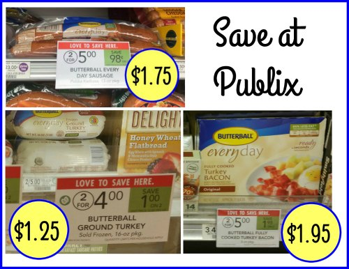 image relating to Butterball Coupons Turkey Printable named Butterball Specials At Publix - Frozen Floor Turkey Exactly $1.25
