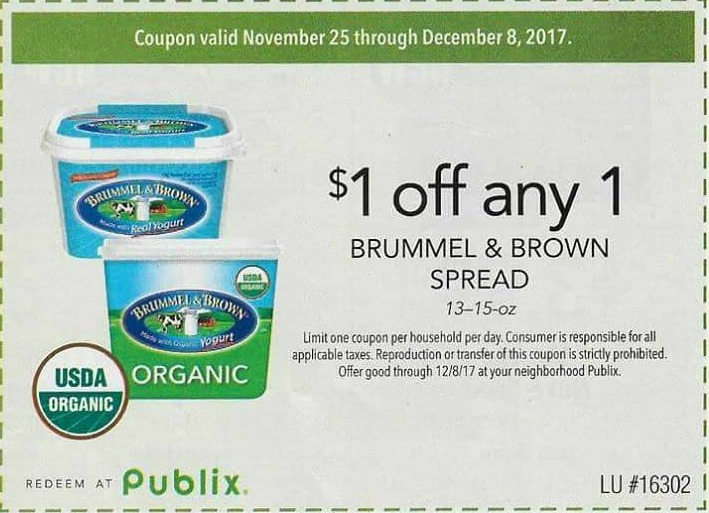 have you had a chance to take advantage of the great savings on brummel u0026 brown organic buttery spread made with the wholesome goodness of real organic