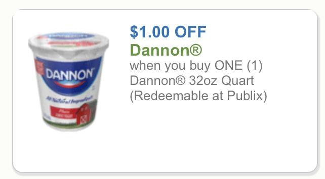 New Dannon Yogurt Coupon Big Tubs Just 1 70 At Publix