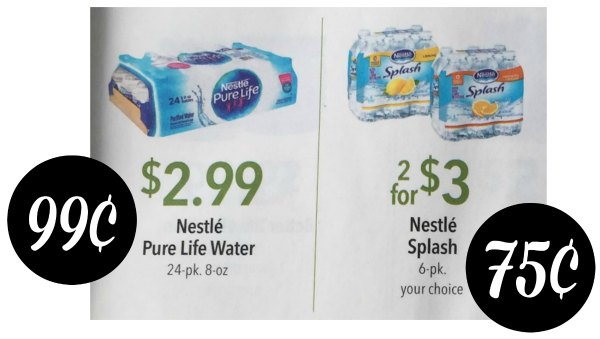 Nestle Splash 6pk - Just 75¢ At Publix (Plus 99¢ 24pk of