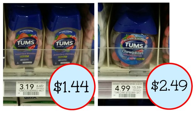 photo relating to Tums Coupon Printable identified as Tums Coupon + Publix Coupon \u003d As Reduced As $1.44
