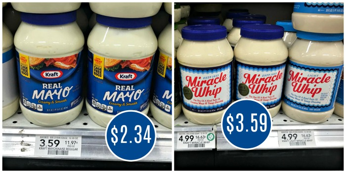 kraft real mayo only 2 34 miracle whip only 3 47 at publix