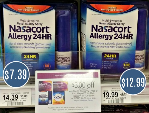 graphic regarding Nasacort Coupon Printable identify Nasacort Simply $7.39 At Publix - Preserve $6!