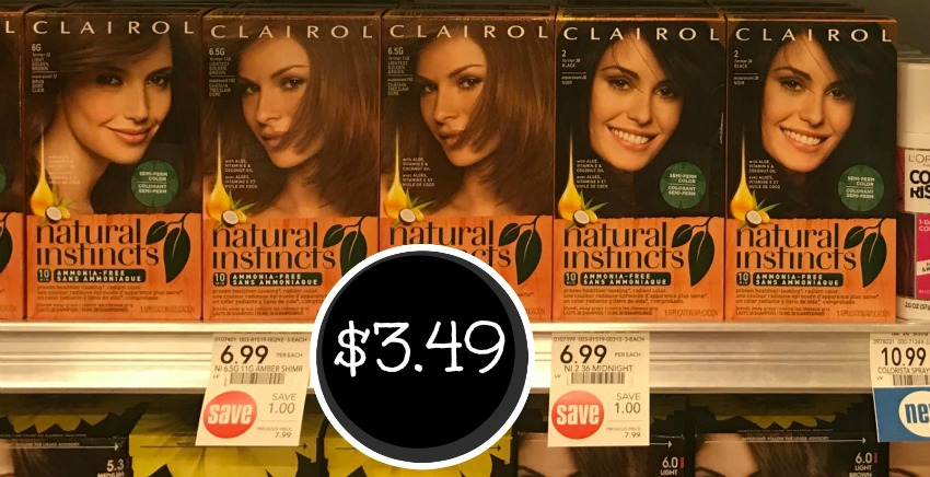 High Value Clairol Coupons Super Deal On Natural Instincts Hair