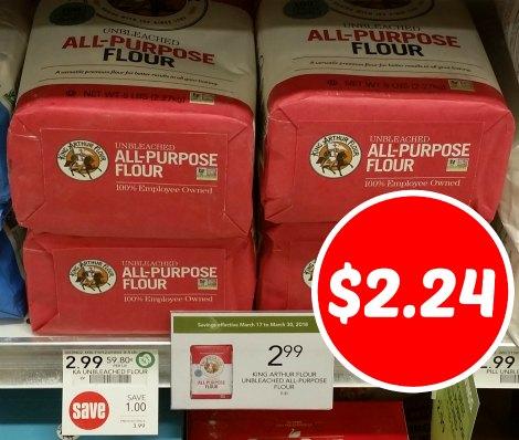picture regarding King Arthur Flour Printable Coupon called King Arthur Flour Coupon For The Publix Sale - 5lb Bag Simply