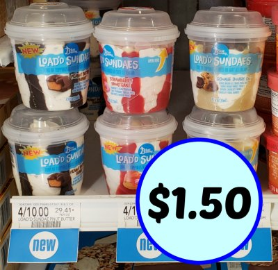 New Blue Bunny Loadd Sundaes Cups Coupon Only 150 At Publix