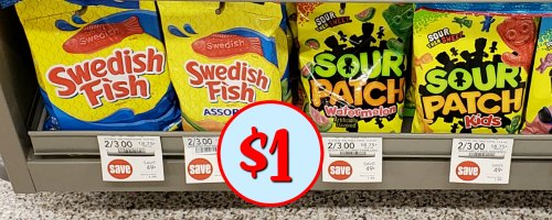 Swedish fish or sour patch candy coupon for the publix for Publix fish in a bag