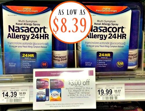 image regarding Nasacort Coupon Printable titled Fresh new Nasacort Coupon - 60 Spray Bottle Simply just $8.39 At Publix