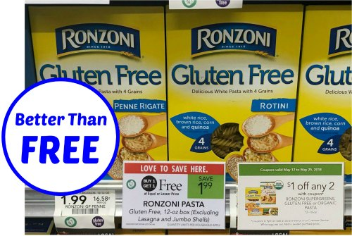 Ronzoni Gluten Free Pasta Better Than FREE After Coupon ...