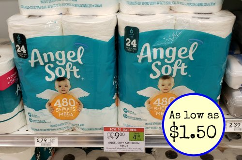 angel soft bathroom tissue as low as 1 50 at publix