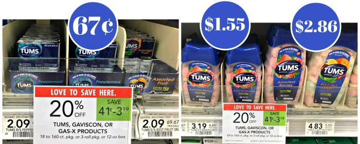 graphic about Tums Coupon Printable named Clean Tums Coupon - As Minimal As 67¢ At Publix