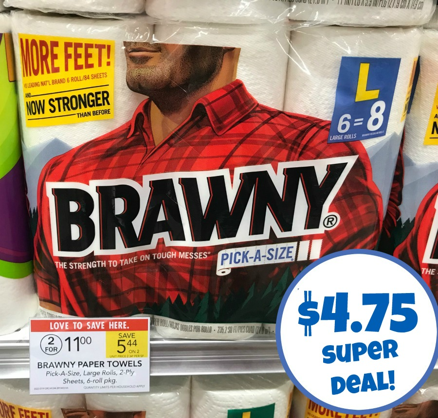 photograph about Brawny Printable Coupons identified as Inventory Up Upon Brawny Paper Towels At Publix - 6 Pack Specifically