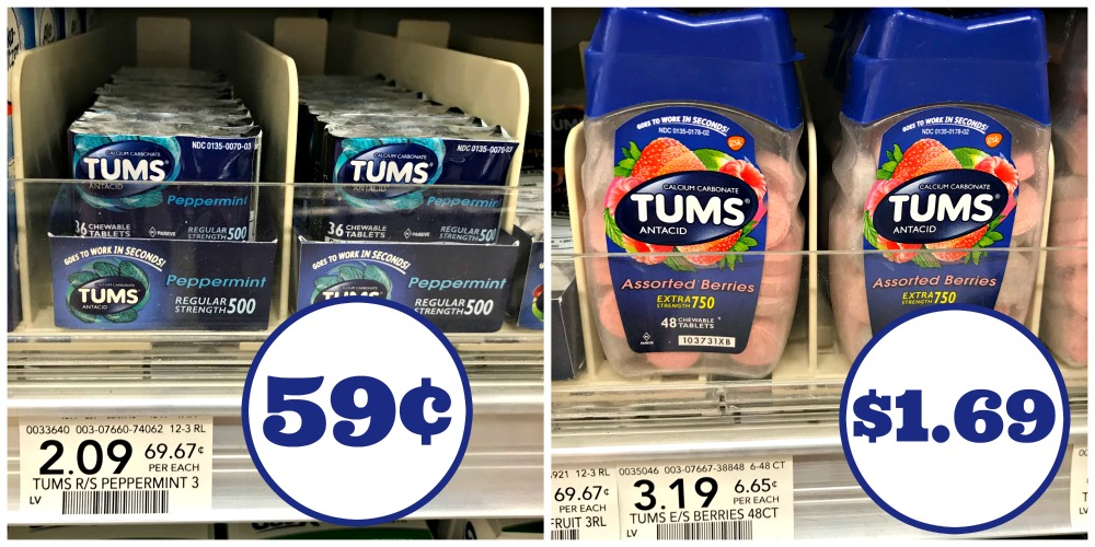 photo regarding Tums Coupon Printable called Refreshing Tums Coupon - As Lower As 59¢ At Publix