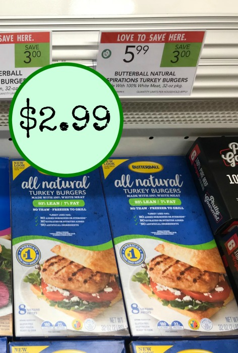 graphic relating to Butterball Coupons Turkey Printable titled Butterball Turkey Burgers - Only $2.99 At Publix (Help you save $6)