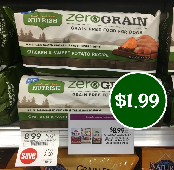 picture regarding Printable Rachael Ray Dog Food Coupons identify Rachael Ray Zero Grain Dry Pet dog Foods - Only $1.99 At Publix