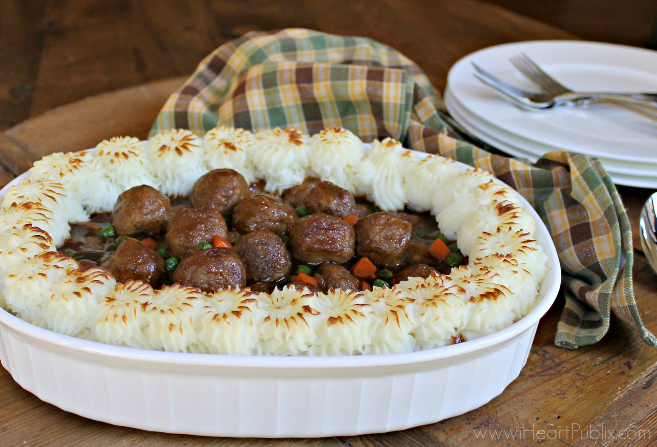 Shortcut Meatball Shepherd's Pie Recipe To Go With The Armour Meatball BOGO Sale on I Heart Publix