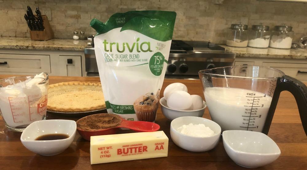 photo relating to Truvia Coupon Printable known as Chocolate Silk Pie Recipe with Truvia® Cane Sugar Merge