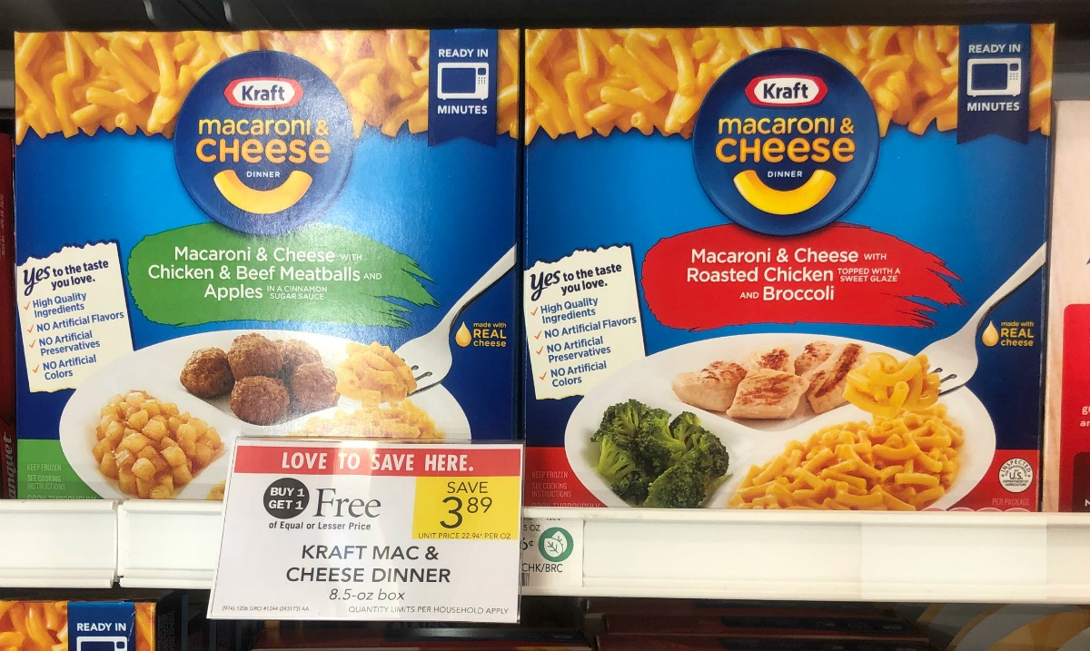 Stock Up On Kraft Macaroni And Cheese Frozen Dinners Buy One Get One Free This Week At Publix