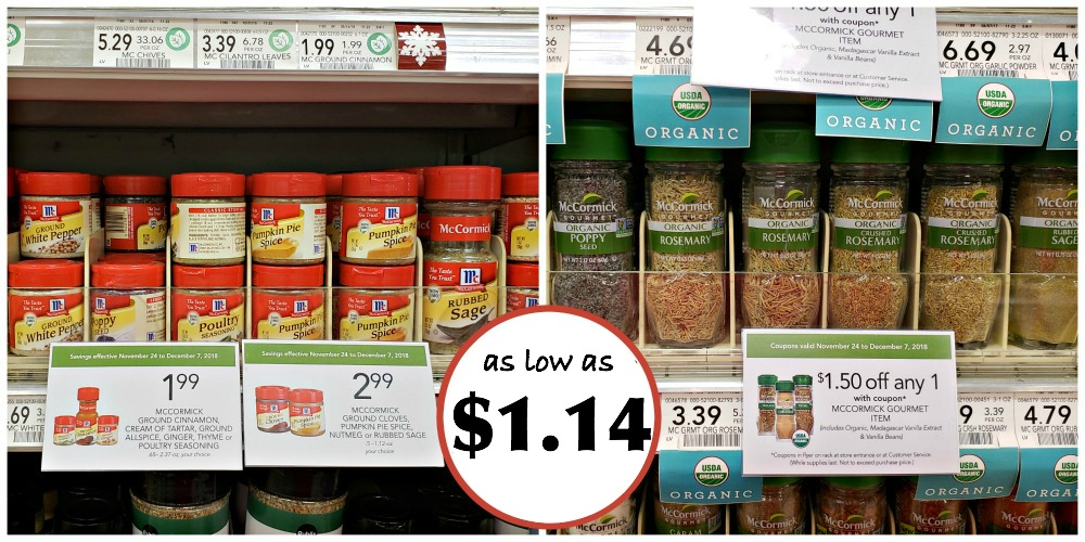 McCormick Spices As Low As $1 14 At Publix