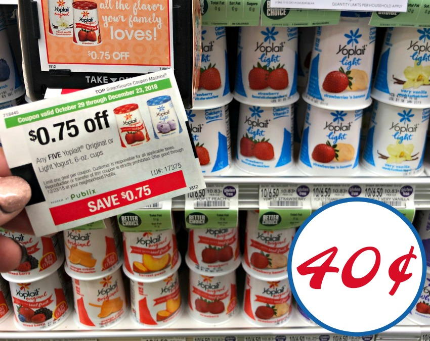 photograph relating to Yoplait Printable Coupon named Yoplait Yogurt Cups Simply 40¢ At Publix - Fresh Publix Coupon!