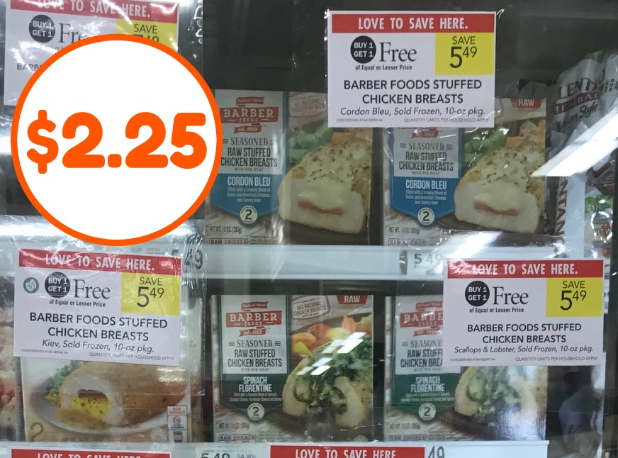 Barber Foods Stuffed Chicken Breasts Just 225 Per Box At Publix