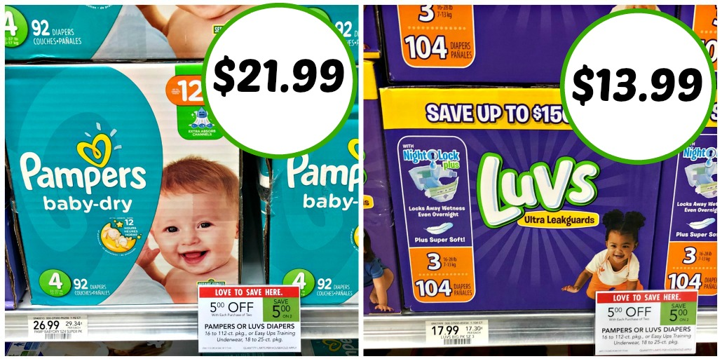 Nice Discounts On Luvs Diapers & Pampers Diapers Right Now