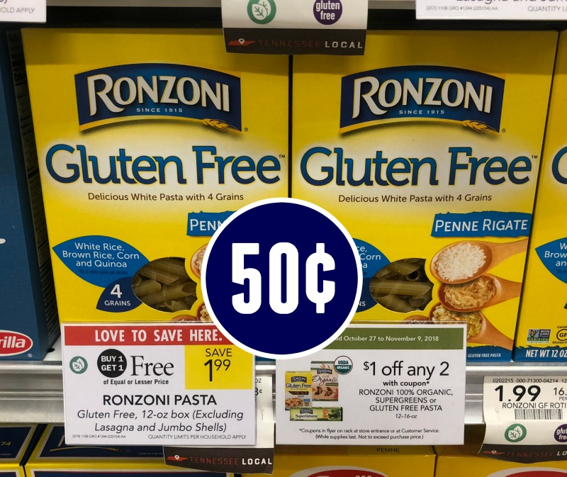 Ronzoni Specialty Pasta - Just 50¢ At Publix
