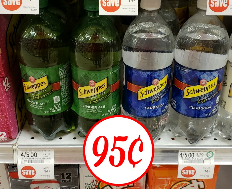 Schweppes Ginger Ale or Club Soda Liters Just 95¢ At Publix