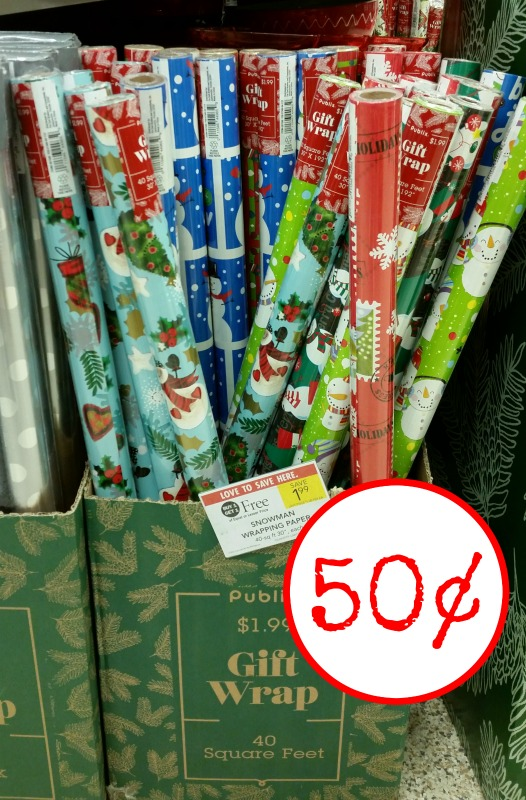 Holiday Wrapping Paper - Just 50¢ At Publix