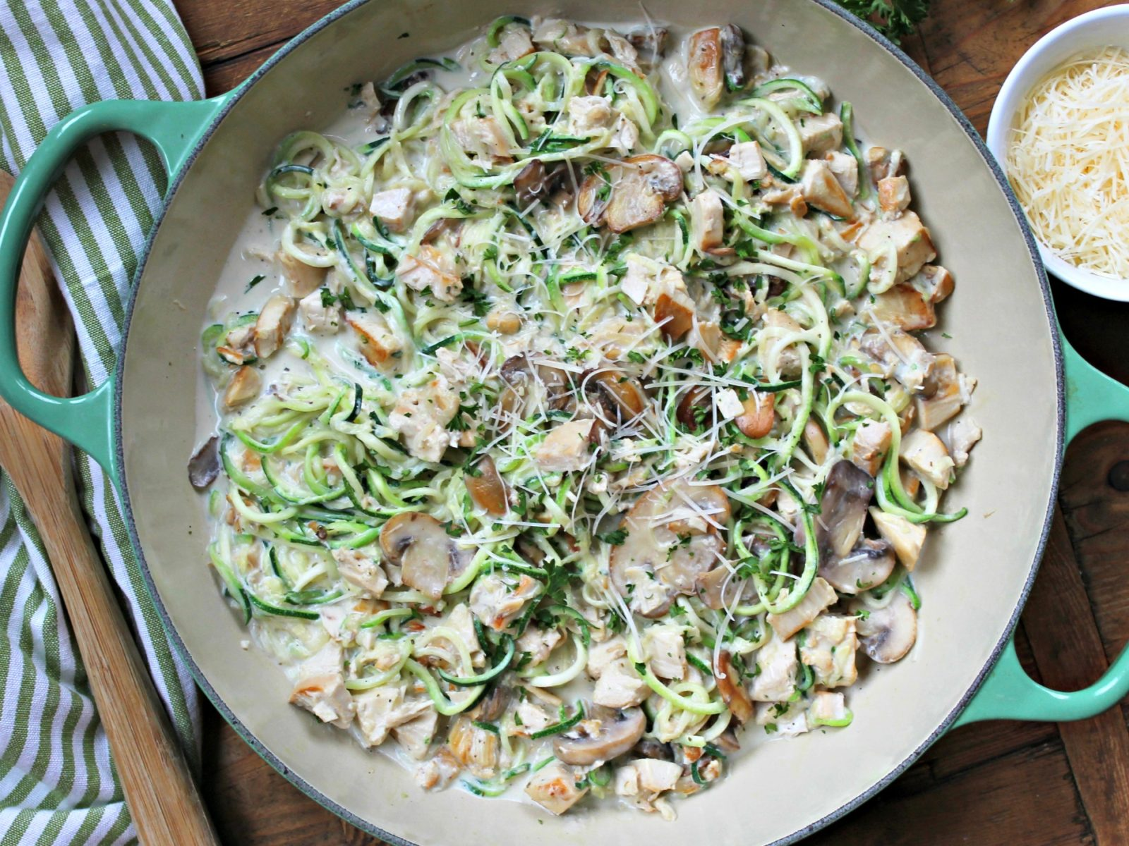 Creamy Mushroom Pork & Zoodles - Get Everything You Need At Publix (+ Look For An Arla Sampling This Weekend) on I Heart Publix 1