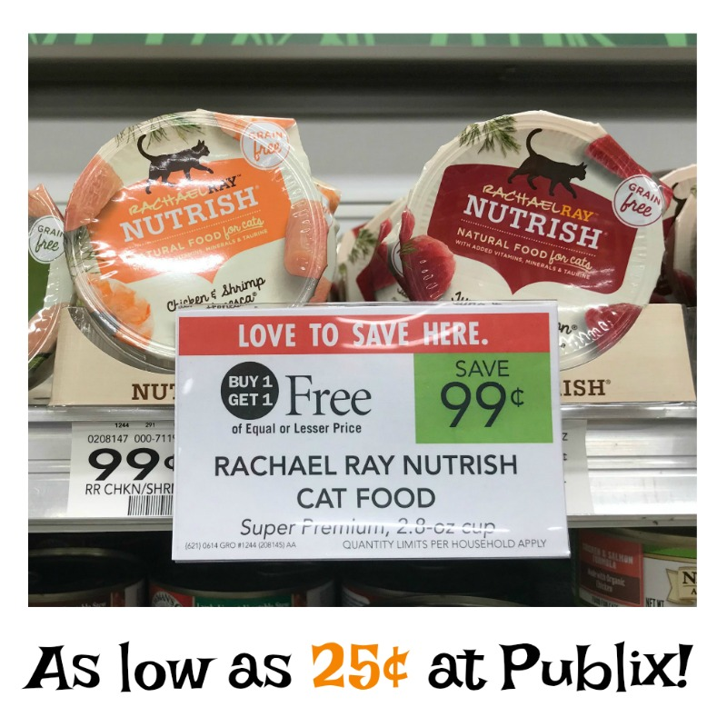 graphic relating to Rachael Ray Cat Food Printable Coupons identified as Rachael Ray Nutrish Damp Cat Food stuff - As Very low As 25¢ For each Cup At