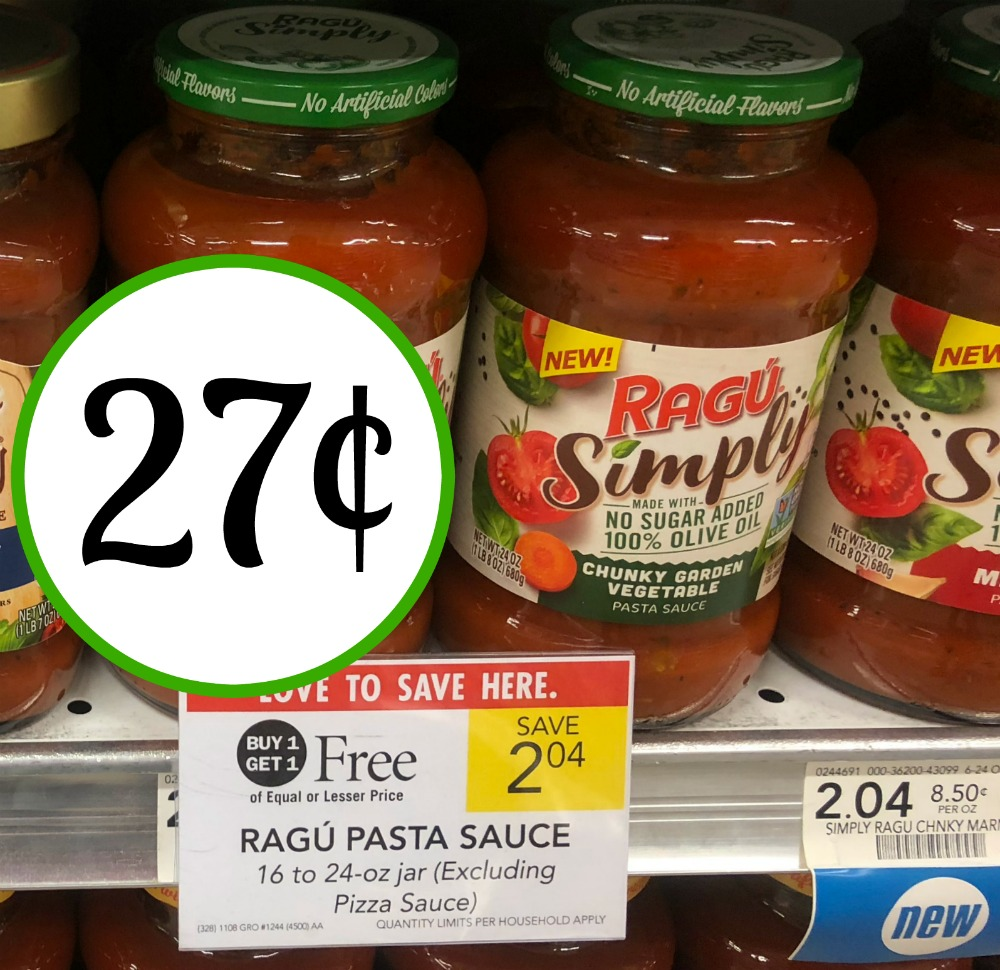 photo about Ragu Printable Coupons identify Print Your Discount coupons For 27¢ Ragu Merely Pasta Sauce At Publix