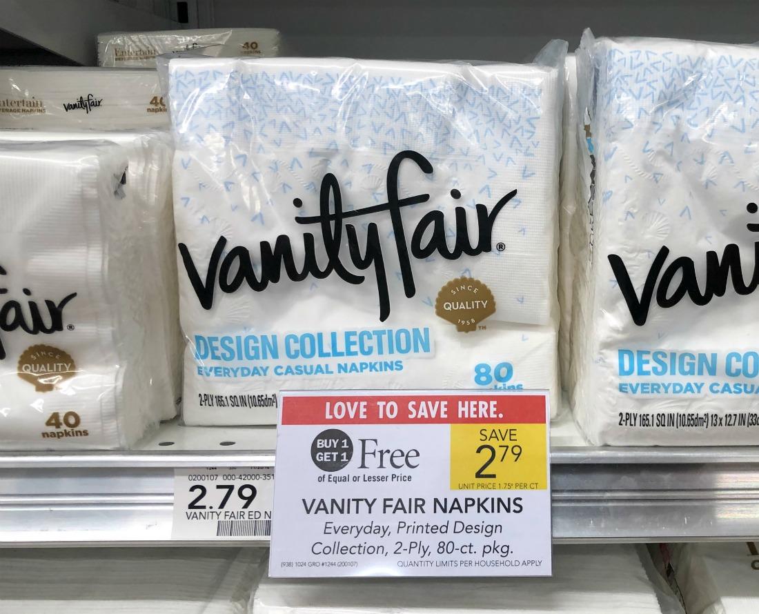 Stock Up On Vanity Fair Napkins During The BOGO Sale At Publix on I Heart Publix