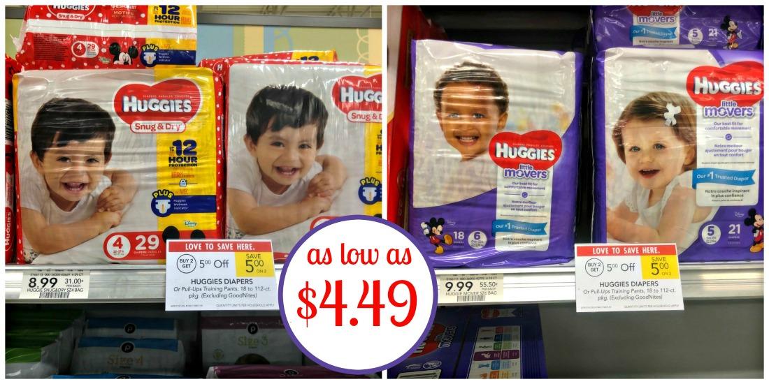 Huggies Diapers As Low As $4.49 Per Pack At Publix