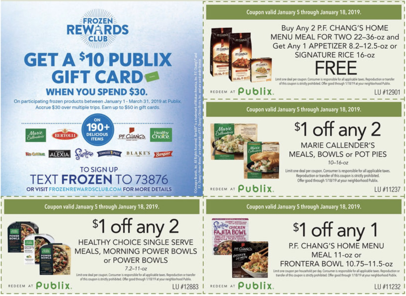 gift cards available publix frozen rewards club is back it s time to earn get a 10 10863