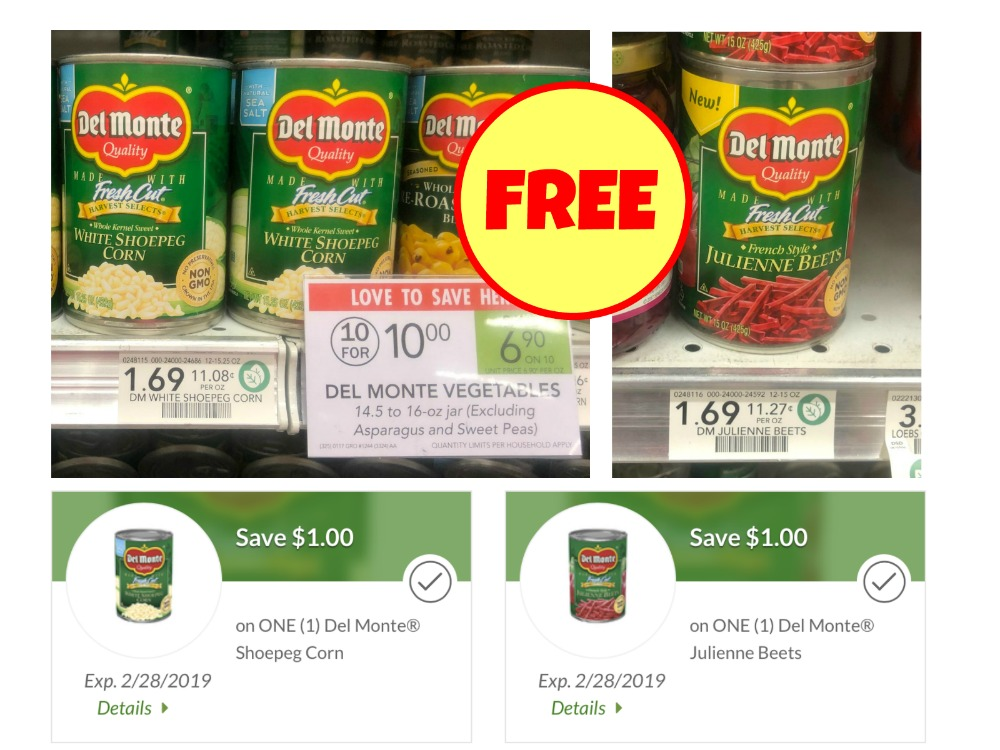 graphic relating to Del Monte Printable Coupons named Totally free Del Monte Shoepeg Corn And Julienne Beets At Publix