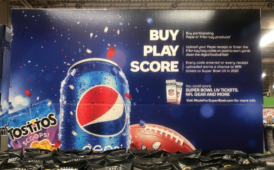 Chance To Win Super Bowl LIV Tickets wyb Pepsi & Frito-Lay Products