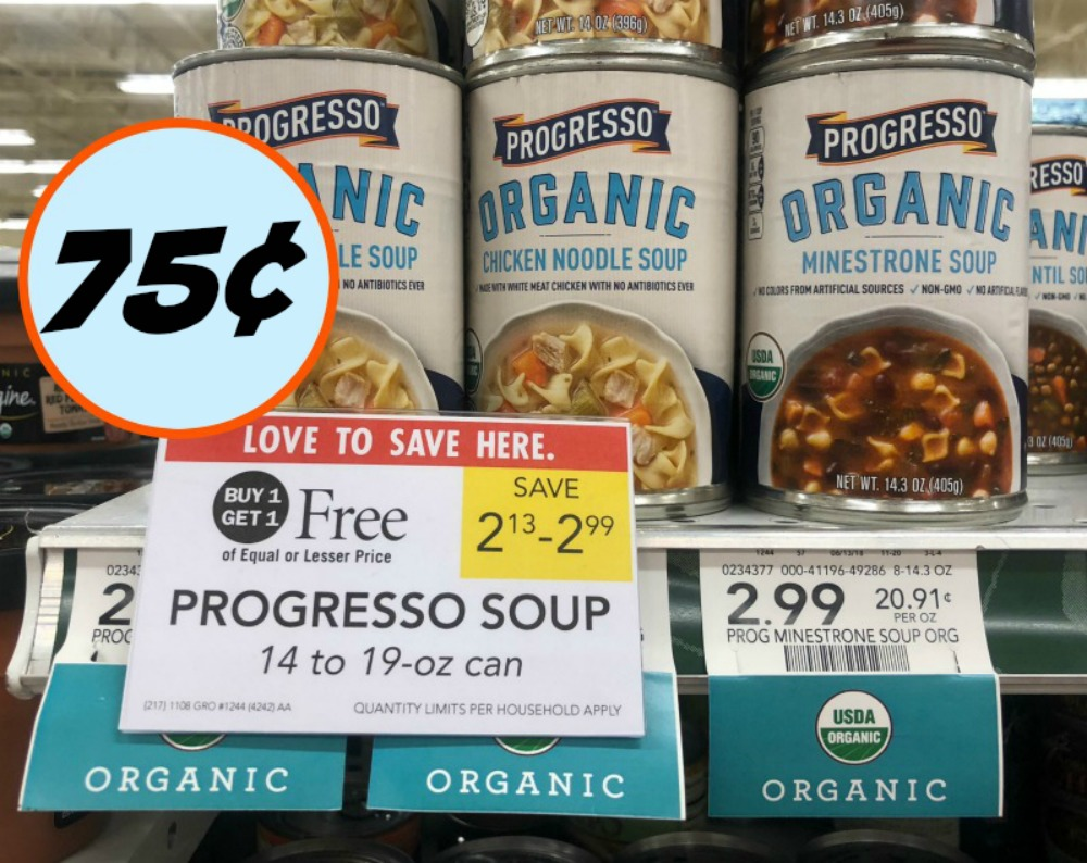 photo about Printable Progresso Soup Coupons titled Progresso Natural and organic Soup Merely 75¢ At Publix